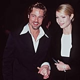 Brad Pitt and his then-girlfriend Gwyneth Paltrow arrived at the show in 1996.