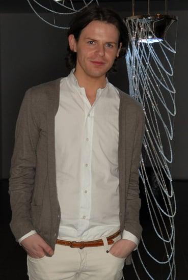 Photo of British Fashion Designer Christopher Kane with Teavigo Green tea Collaboration