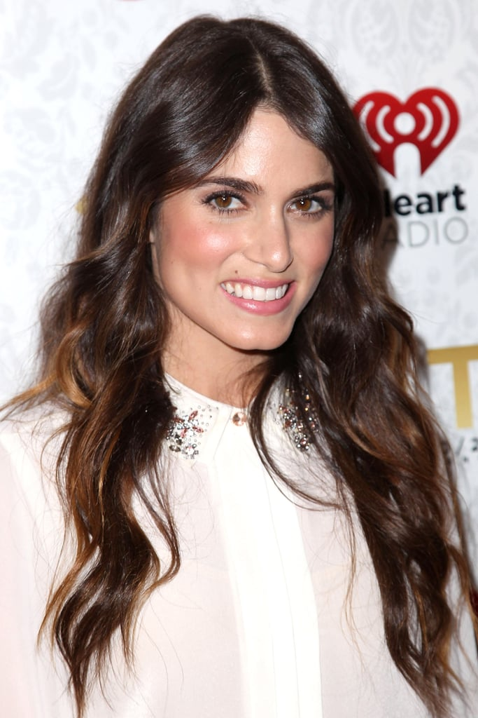 Nikki Reed's beachy waves are a hair classic. Use a clampless iron, like the Cloud Nine The Wand ($270) and wrap your hair away from your face. Don't forget a beach spray and separate your strands with your fingers to master this look.