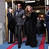 Jay-Z and Beyoncé were glamorous at the inauguration.