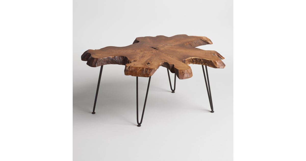 Wood Slice Coffee Table 220 Cost Plus World Market Fall 2016 Collection Popsugar Home Photo 9
