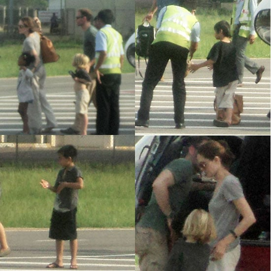 Angelina Jolie Pictures in Cambodia for Louis Vuitton With Shiloh, Zahara, Maddox, and Pax