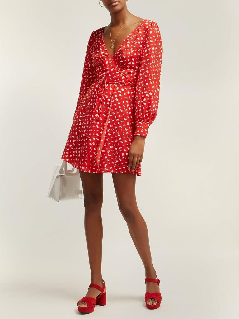 Alexa Chung Floral Print Crepe Wrap Dress ($422)