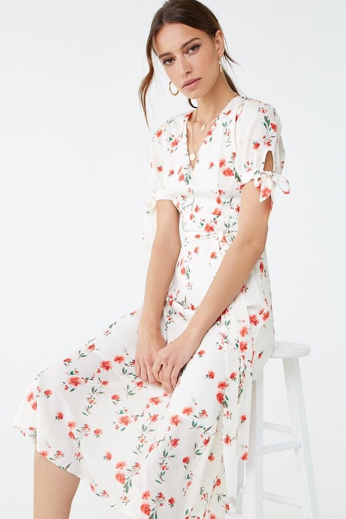 Satin Floral Midi Dress | Best Summer Dresses From Forever