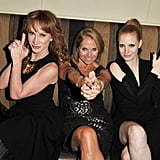 Jessica Chastain played Charlie's Angels with Katie Couric and Kathy Griffin at  InStyle's Toronto Film Festival bash.
