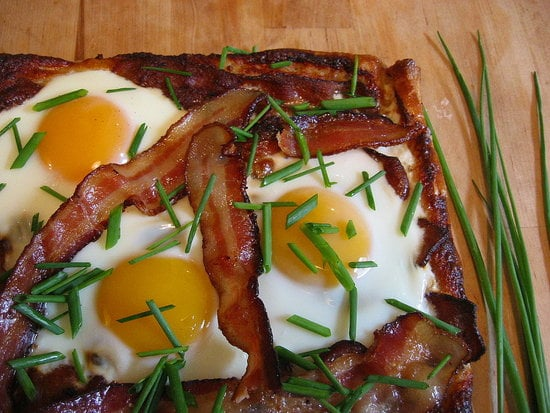Try eggs on pizza.