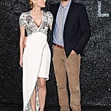 Diane Kruger and Joshua Jackson at Chanel show in Paris.