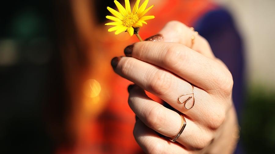 DIY: Cute Heart Ring