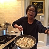 Oprah got to work in the kitchen. Source: Instagram user oprah