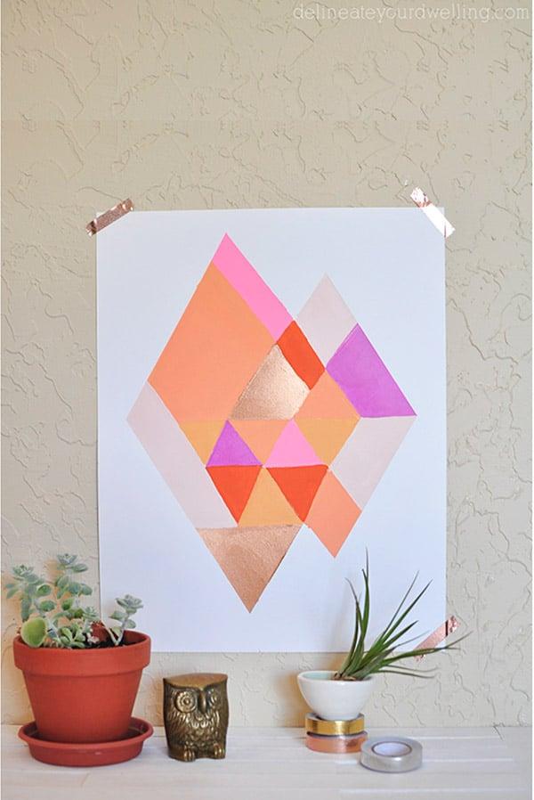 Abstract Diamond Print