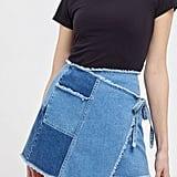 UO Frayed Wrap Mini Skirt
