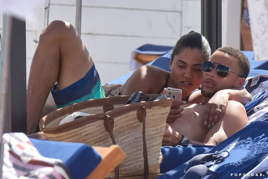 ayesha and stephen curry in st  tropez july 2016