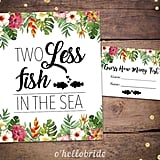 Two Less Fish Printable Bridal Shower Game