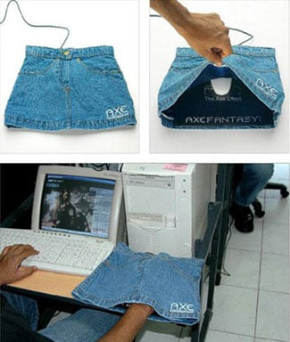 Totally Geeky or Geek Chic? Skirt-Covered Mousepad