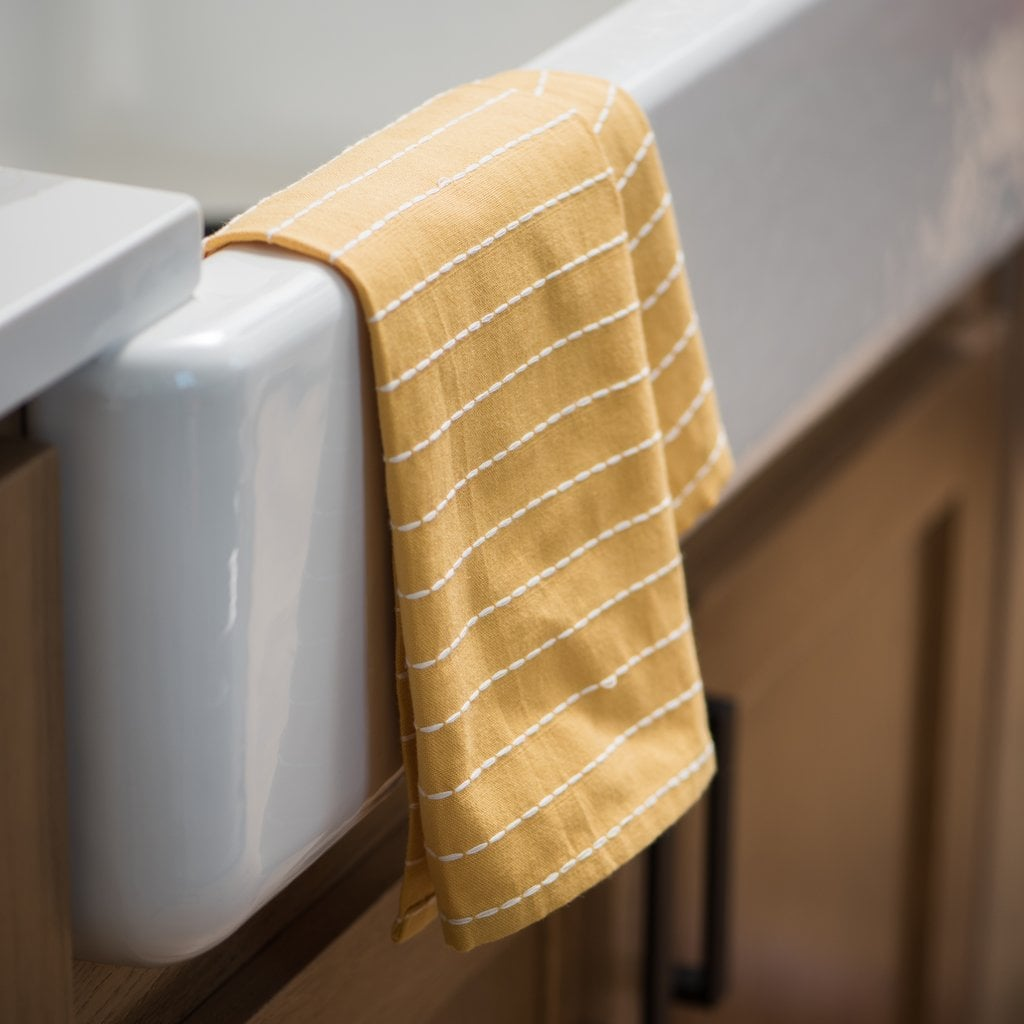 Yellow Sasha Tea Towel