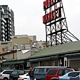 Store number one directly across from the covered stalls at Seattle's famed Pike Place Public Market.