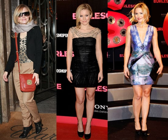 Pictures of Kristen Bell's Burlesque Premiere Style