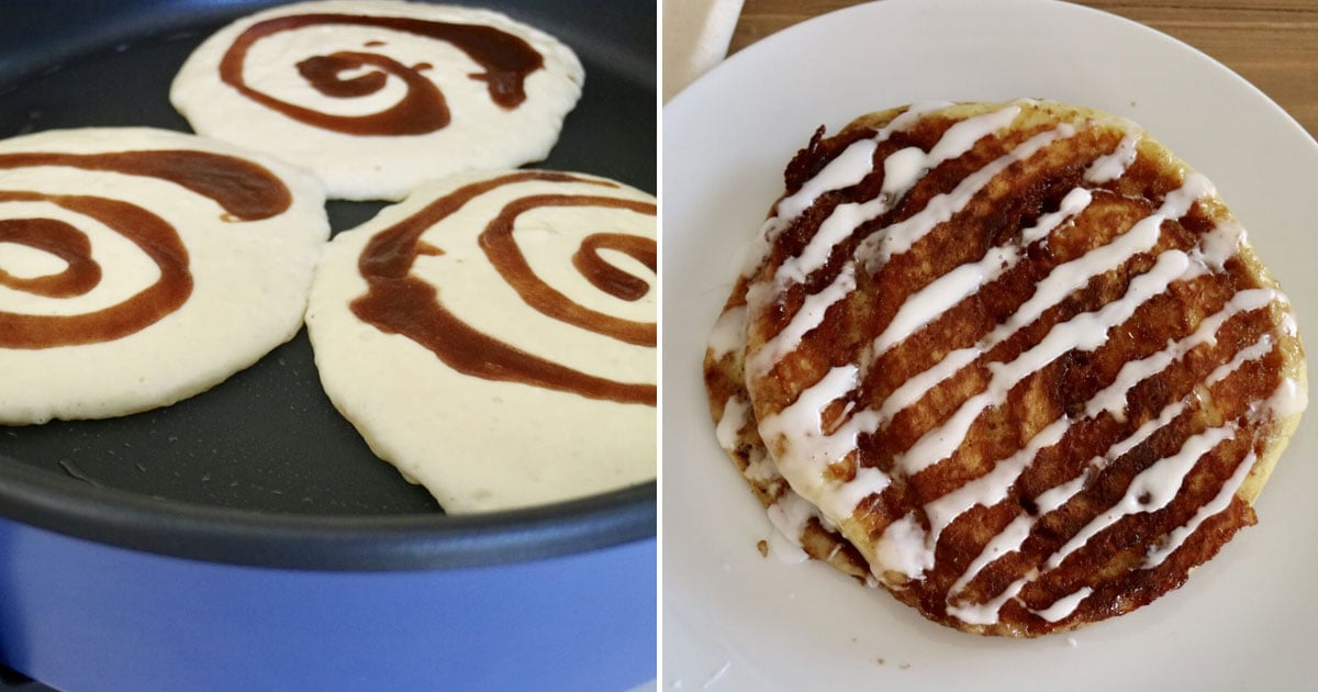 I Made The Cheesecake Factory's Cinnamon Roll Pancakes at Home, and Breakfast Will Never Be the Same