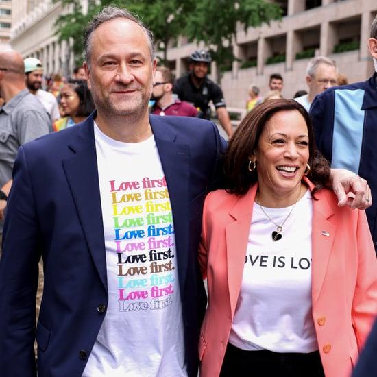 Kamala Harris and Doug Emhoff at 2021 Pride Parade Photos