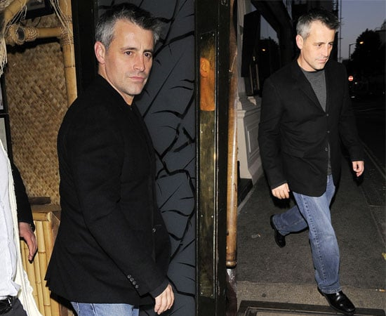 """Pictures of Matt LeBlanc in London at the Ivy In Town Filming """"Episodes"""""""