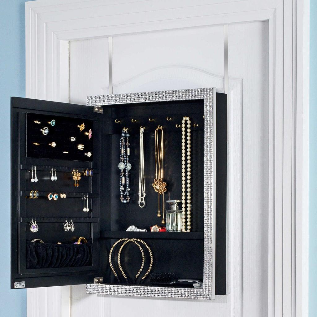 Door Solutions OvertheDoor Mirror Jewelry Organizer Home