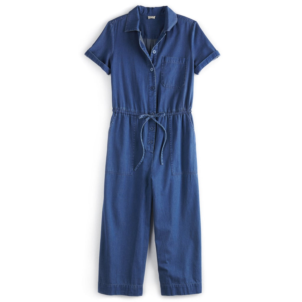 Wide-Leg Denim Jumpsuit