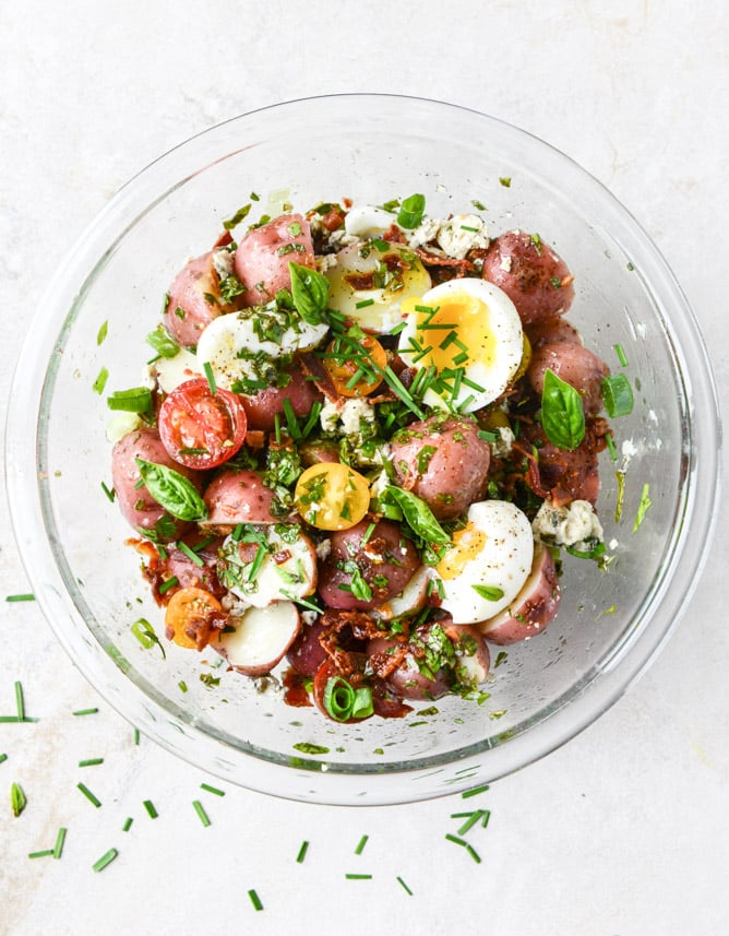 Bacon Blue Potato Salad With Soft-Boiled Eggs