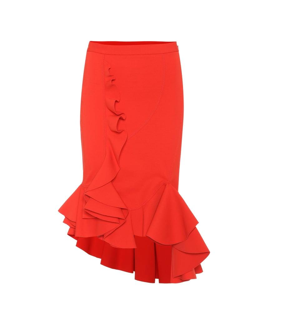 melania trump red skirt for hispanic heritage month popsugar fashion