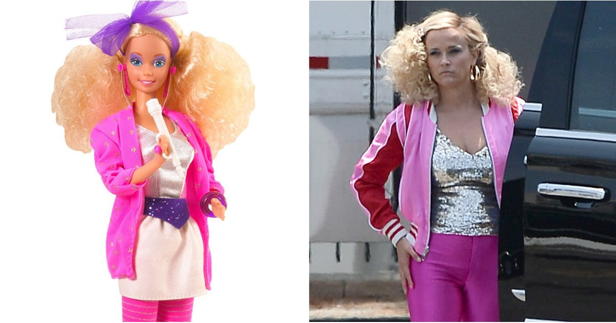 reese witherspoon is a real life 80s barbie doll while filming big