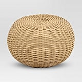 Wicker Patio Pouf