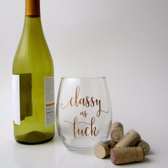 Curse-Word Wine Glasses