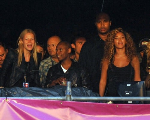 Gwyneth Paltrow and Beyonce Knowles were on-hand to watch Jay-Z perform during day three of the Wireless Festival.