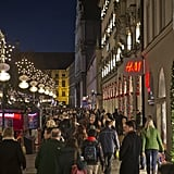 Shoppers hit the stores in Munich, Germany, ahead of the Christmas holiday.