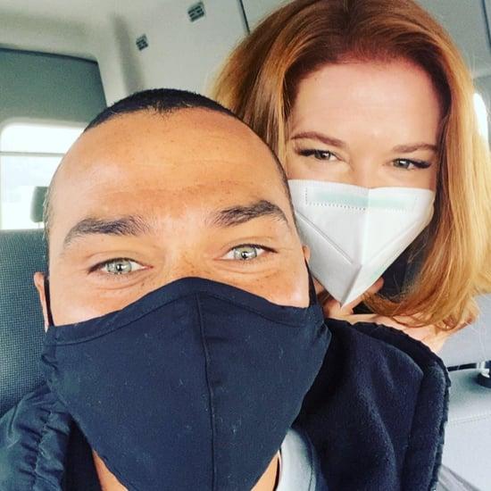 Jesse Williams and Sarah Drew Reunite on Grey's Anatomy Set
