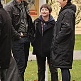 Ginnifer Goodwin and her boyfriend, Josh Dallas, laughed between takes of their ABC show, Once Upon a Time, in Vancouver on Wednesday.