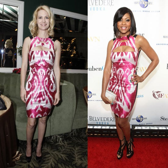 Pictures of January Jones and Taraji Henson in Same Gucci Ikat Dress
