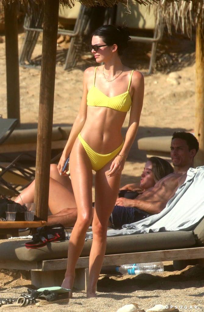 Kendall Jenner's Yellow Bikini in Greece