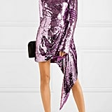 16Arlington Drape Sequined Crepe Mini Dress