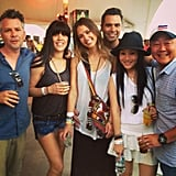 Jessica Alba and Cash Warren mingled with their pals under a tent. Source: Instagram user jessicaalba