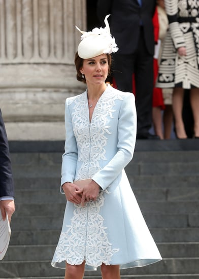 Kate Middlton's Blue Catherine Walker Coat Dress June 2016