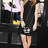 Marissa Montgomery took a minimalist approach at the Chanel getthegloss.com party.