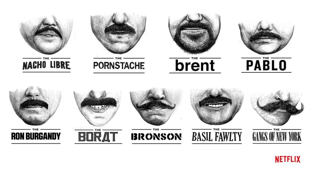Ron Burgandy Borat  Famous Moustaches How To