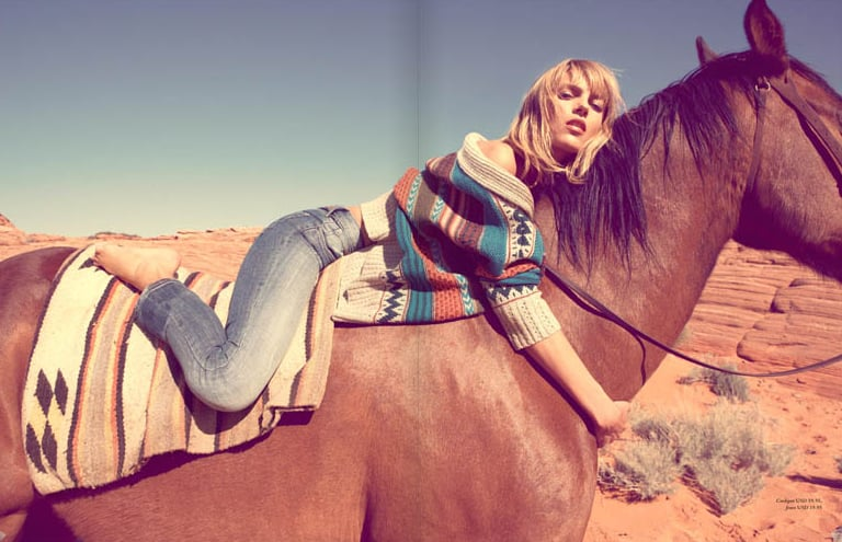 Anja Rubik in H&M Magazine's September Issue 2010-09-02 04:00:06