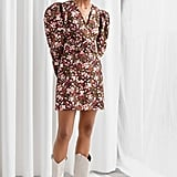 & Other Stories Floral Puff Sleeve Mini Dress