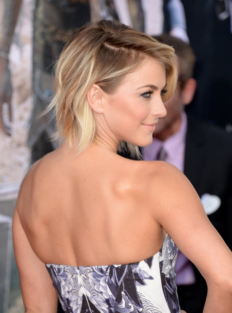 At the West Coast premiere of The Lone Ranger, Julianne Hough had yet another enviable hair moment. Her white blonde bob is always the perfect mix of texture and movement, and in California last night, she brought more highlights — literally! The ex-dancer is currently rocking an almost edible mix of lowlights and highlights, making for a hair look that has depth, shine and a cool edge. We adore the deep centre-part, and it's one we'll be trying this week for sure. Click through to see her lovely locks from all angles.