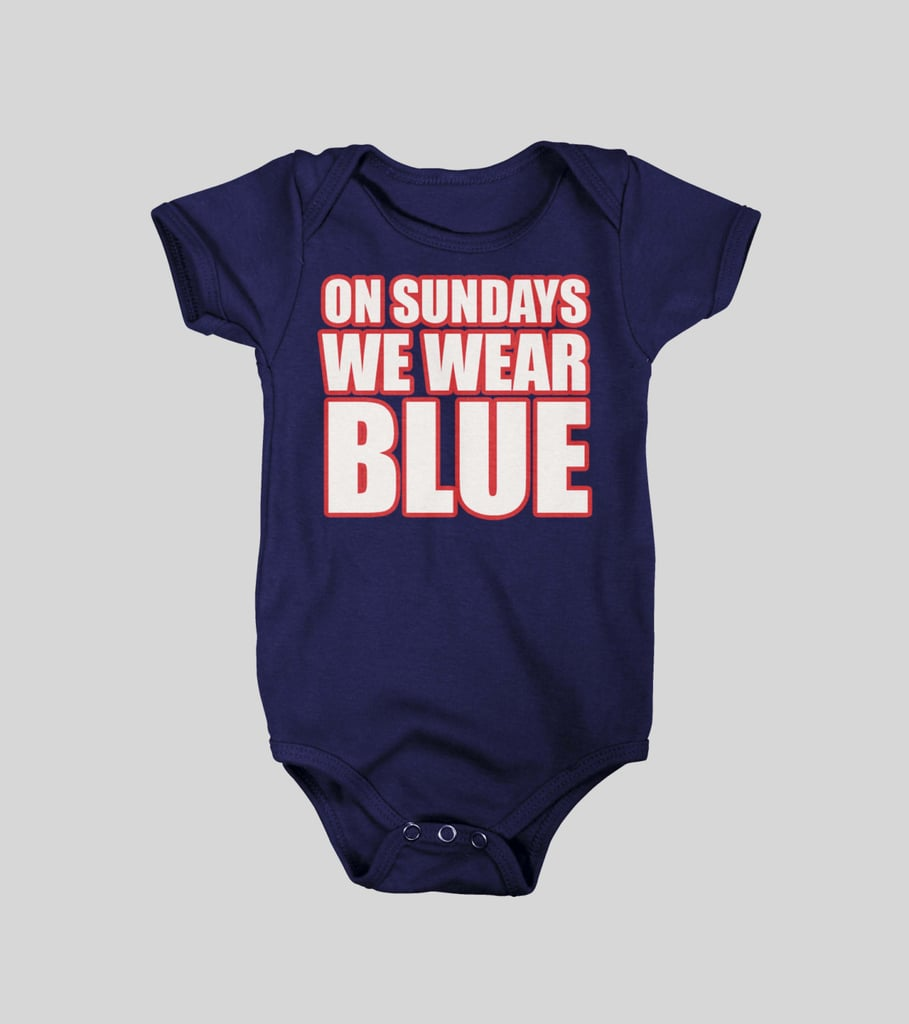 On Sundays We Wear Blue Patriots Onesie