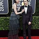 Leslie Bibb and Sam Rockwell at the 2020 Golden Globes