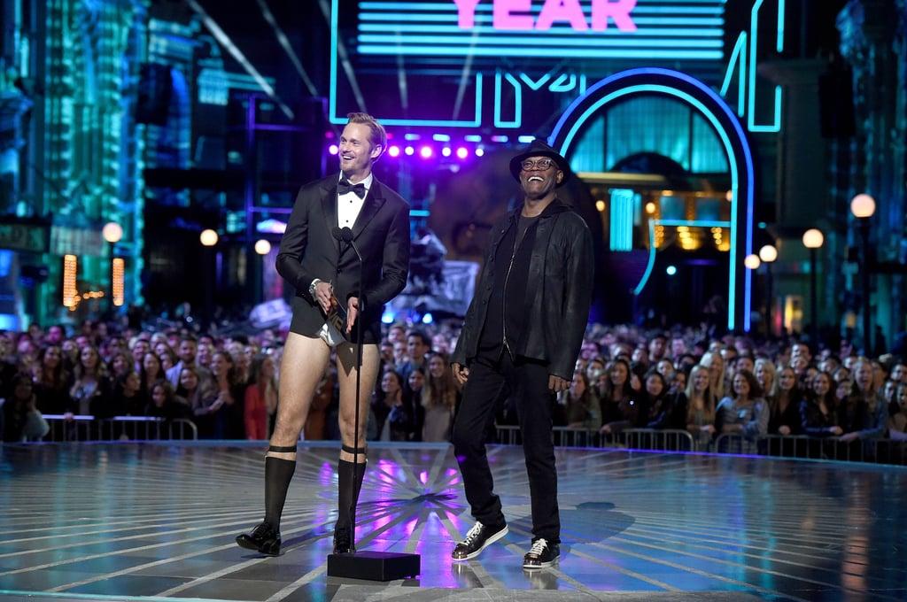 Alexander Skarsgard With No Pants at MTV Movie Awards 2016