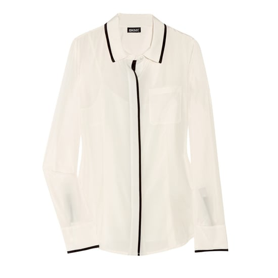 DKNY Stretch Silk Crepe de Chine Blouse, $195