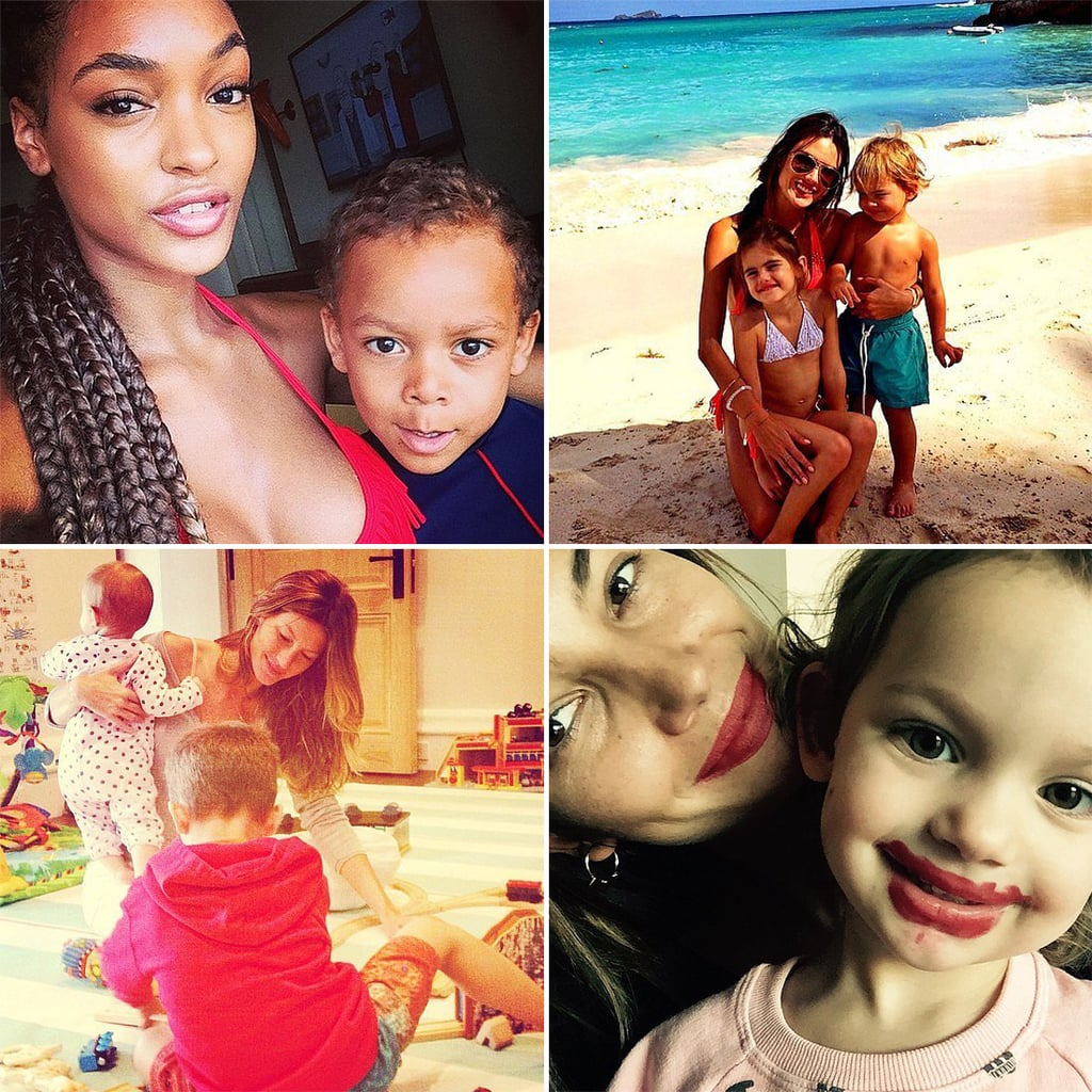 Models With Kids on Instagram